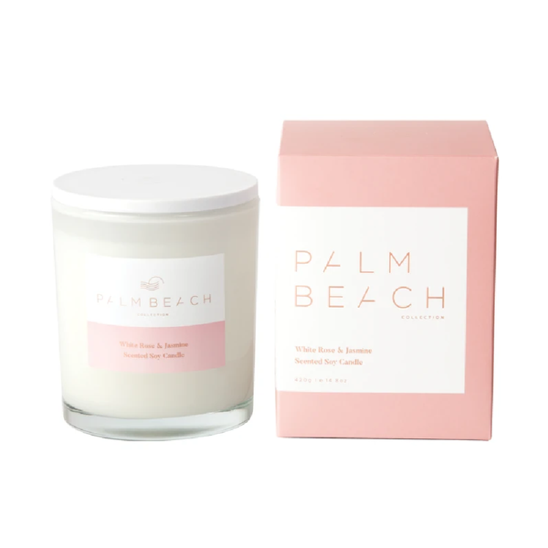 Palm Beach Standard Candle White Rose & Jasmine