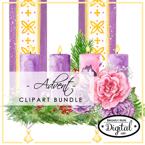 Digital Clip Art Set- Advent Collection