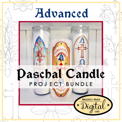 "Digital 21 Pg. PDF Set- ""Paschal Candle Projects"" ADVANCED"