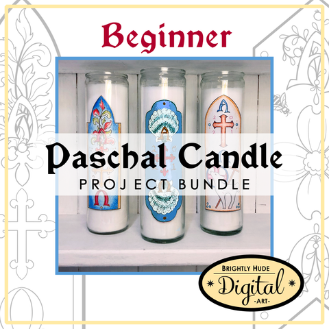 "Digital 11 Pg. PDF Set- ""Paschal Candle Projects"" BEGINNER"