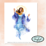 "Individual Clip Art Images- ""Assumption of Mary"""