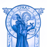 "8"" x 10"" St. Benedict in Blue Print"
