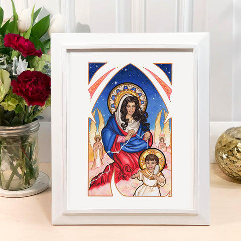 "8"" x 10"" LE Our Lady Undoer of Knots Print"