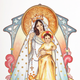 "8"" x 10"" LE Our Lady of the Rosary"