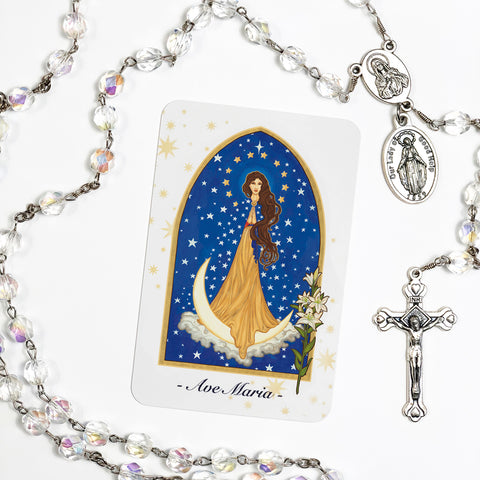 """Ave Maria"" Prayer Card"