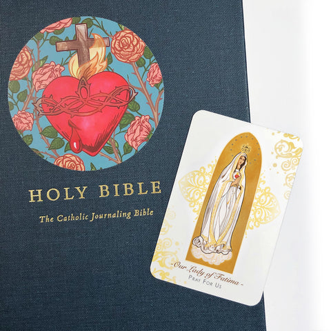 Our Lady of Fatima Prayer Card