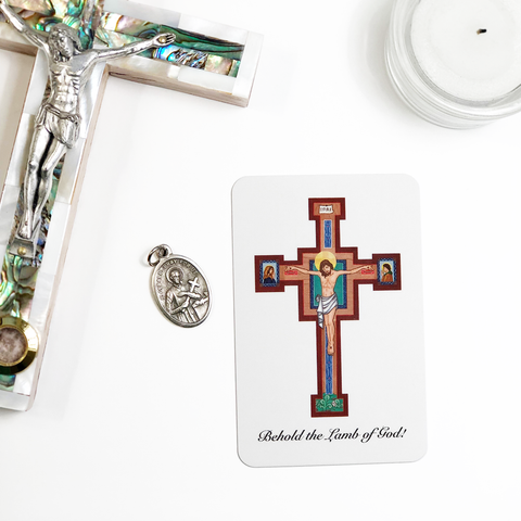Crucifix Prayer Card