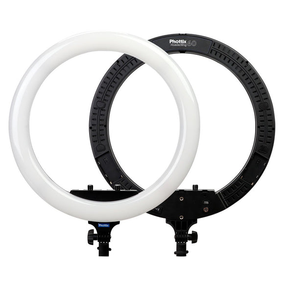 Phottix Nuada Ring 60 Video Bi-Color LED Ring Light (49cm) with Stand (On Special-Limited Time)