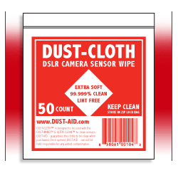 Dust Cloth for wet camera sensor cleaning