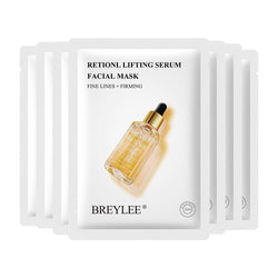 BREYLEE Retinol Serum Face Mask Moisturing Anti-Aging Essence Facial Mask Lifting Firming Smoothing Fine Lines Skin Care 25ml*7