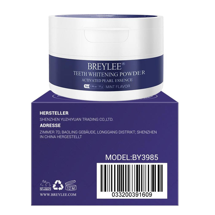 BREYLEE Teeth Whitening Powder Instead of Toothpaste Teeth Brightening Powder with Pearl Essence, Baking Soda for Removing Plaque Stains Yellow Teeth Keeping Oral Fresh With Upgrade Large Capacity (55 g )