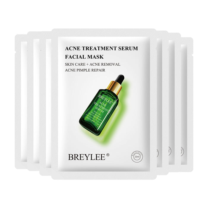 BREYLEE Tea Tree Acne Treatment Serum Facial Mask Acne Healing and Repair Skin shrink pores Skin Care Face Mask 25ml*7