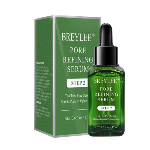 BREYLEE Pore Refining Serum Shrink Pores Tightens Skin Care Essence Moisturizing Whitening Anti-aging Oil Control Facial Essence