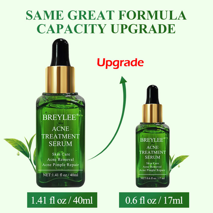 BREYLEE Acne Treatment Serum 40ml With Tea Tree Extract Anti Acne And Scar Removal For Clearing Acne, Breakouts, Pimple Remover and Repairing Skin (1.37 fl oz / 40ml)