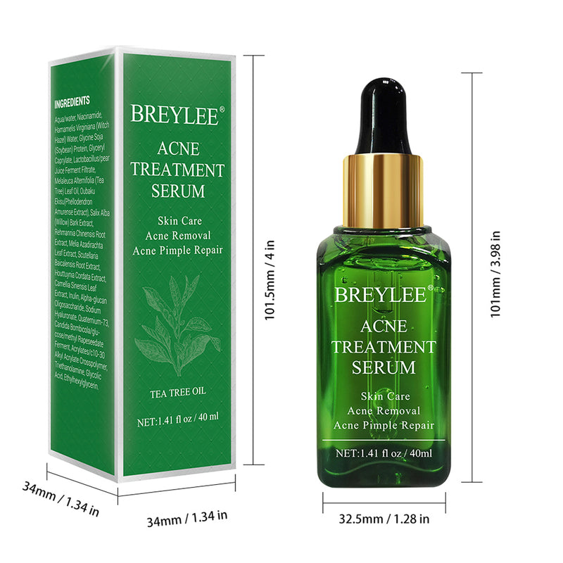 BREYLEE Acne Treatment Serum 40ml Face Facial Essence Anti Acne Scar Removal Cream Skin Care Whitening Pimple Remover For Acne