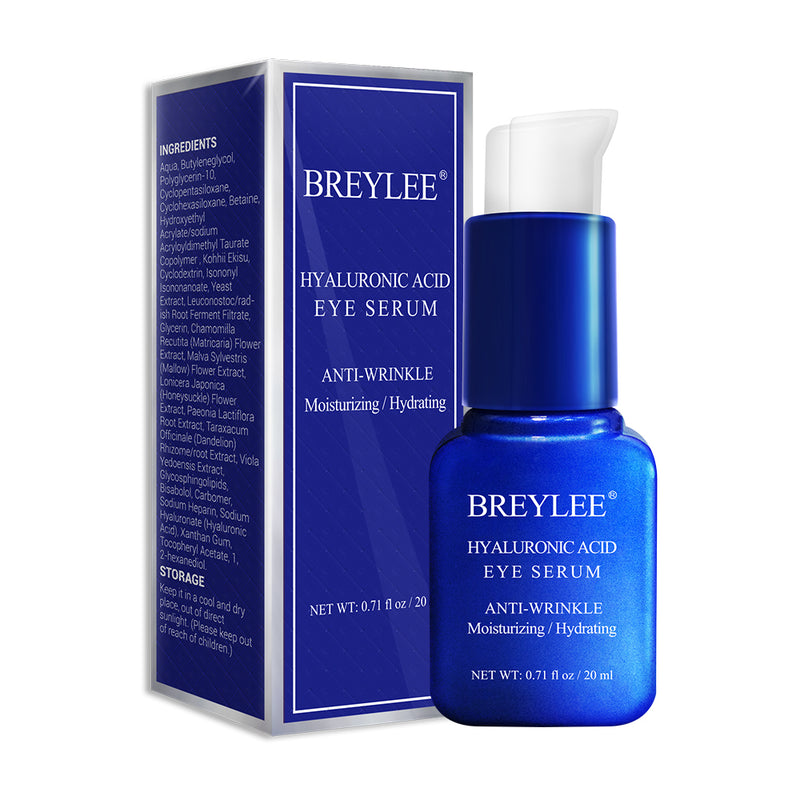 BREYLEE Hyaluronic Acid Eye Serum Eye Care Eye Cream Skin Care Eye Bags Moisturizing Dark Circles Firming 20ml
