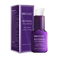 BREYLEE Retinol Eye Serum Eye Care Eye Cream Skin Care Eye Bags Moisturizing Dark Circles Firming 20ml