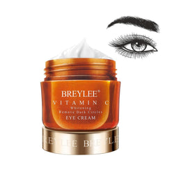 BREYLEE Vitamin C Eye Cream Whitening Remove Dark Circles Fade Freckles VC Eyes Serum Face Care Bleach Brighten Skin Ageless 20g