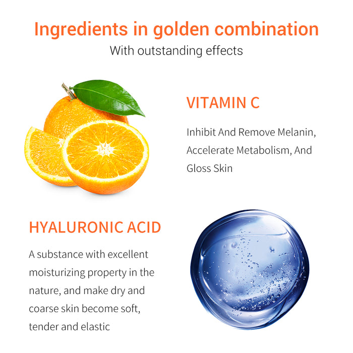 BREYLEE Vitamin C Eye Serum Eye Care Eye Cream Skin Care Eye Bags Moisturizing Dark Circles Firming 20ml