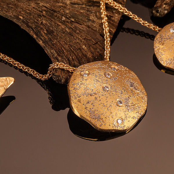 Landscape Diamond Disc Pendant