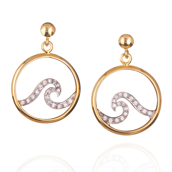 Pavé Wave Earrings