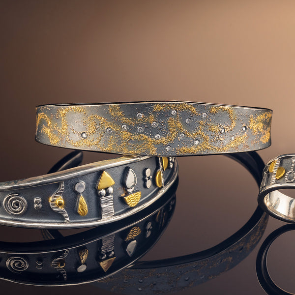 Narrow Tidal Sands Diamond Cuff