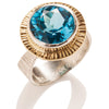 Reverse Tapered Blue Topaz Ring