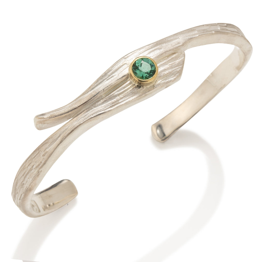 Swirl Bracelet with Tourmaline