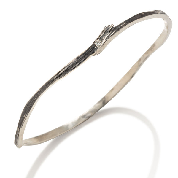 Swirl Bangle in Silver