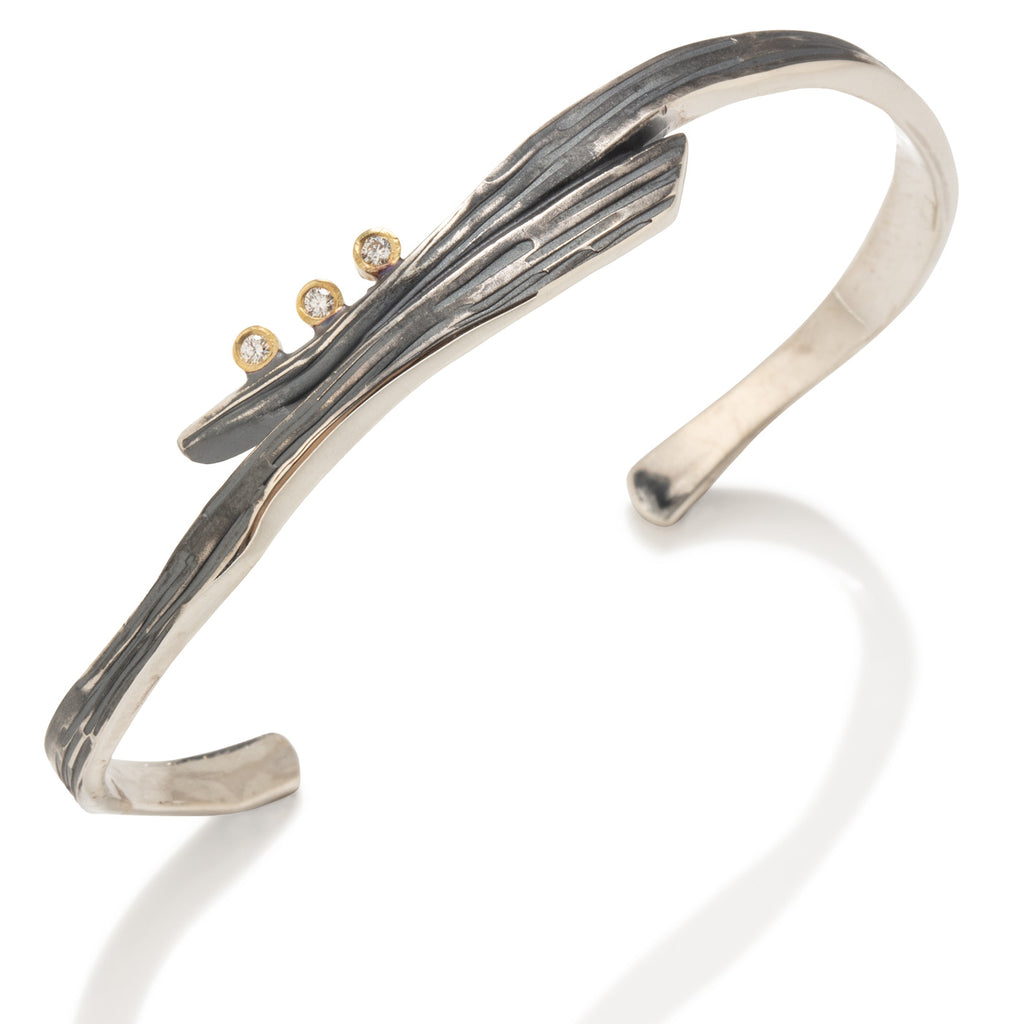 Swirl Bracelet with Diamonds