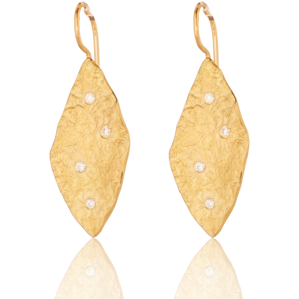 Lithic Diamond Drop Earrings