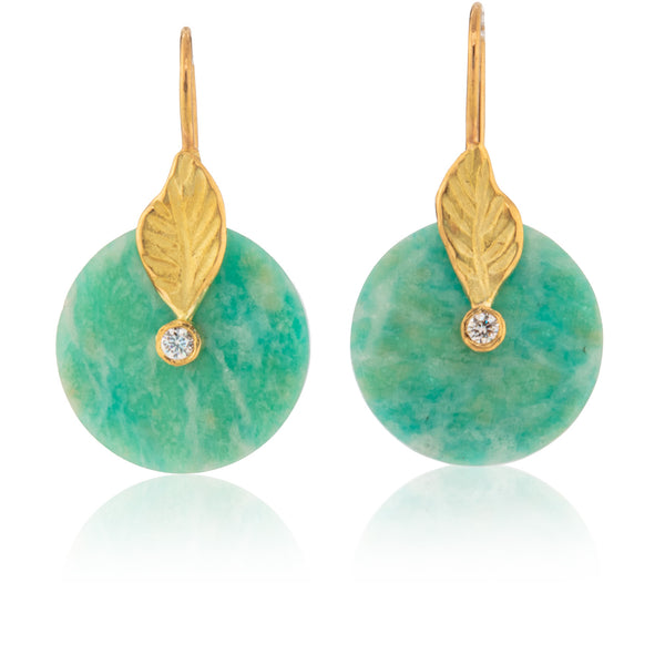 Round Amazonite Leaf Drops