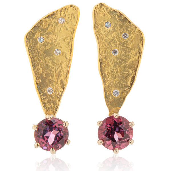 Spinel Rockhammered Studs