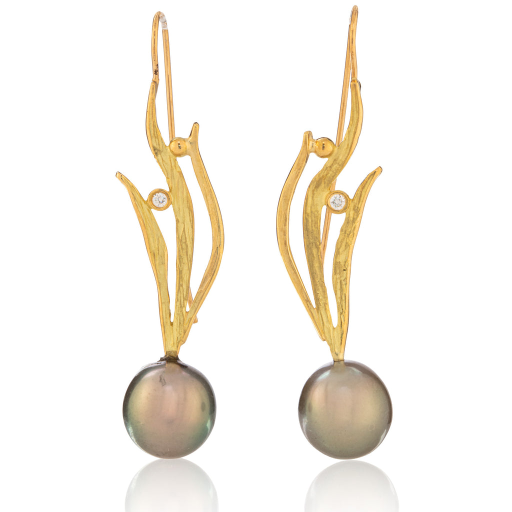 South Sea Pearl Seagrass Earrings