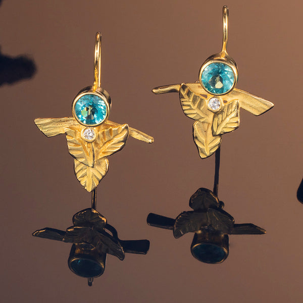 Apatite Leaf Earrings