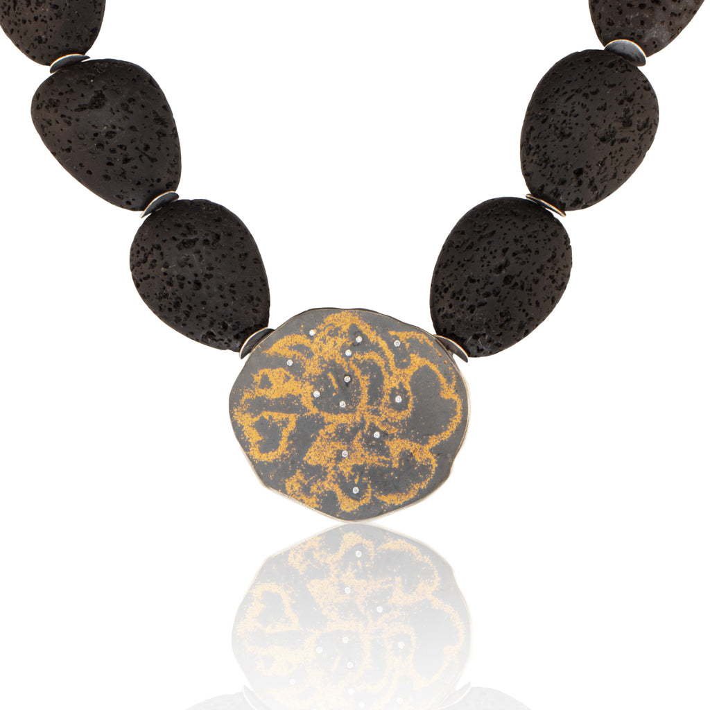 Lava Rock/Starry Night Necklace