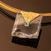 Quartz Pendant with Blue Topaz