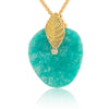 Amazonite Leaf Pendant