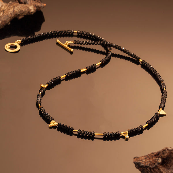 Black Spinel Finial Necklace
