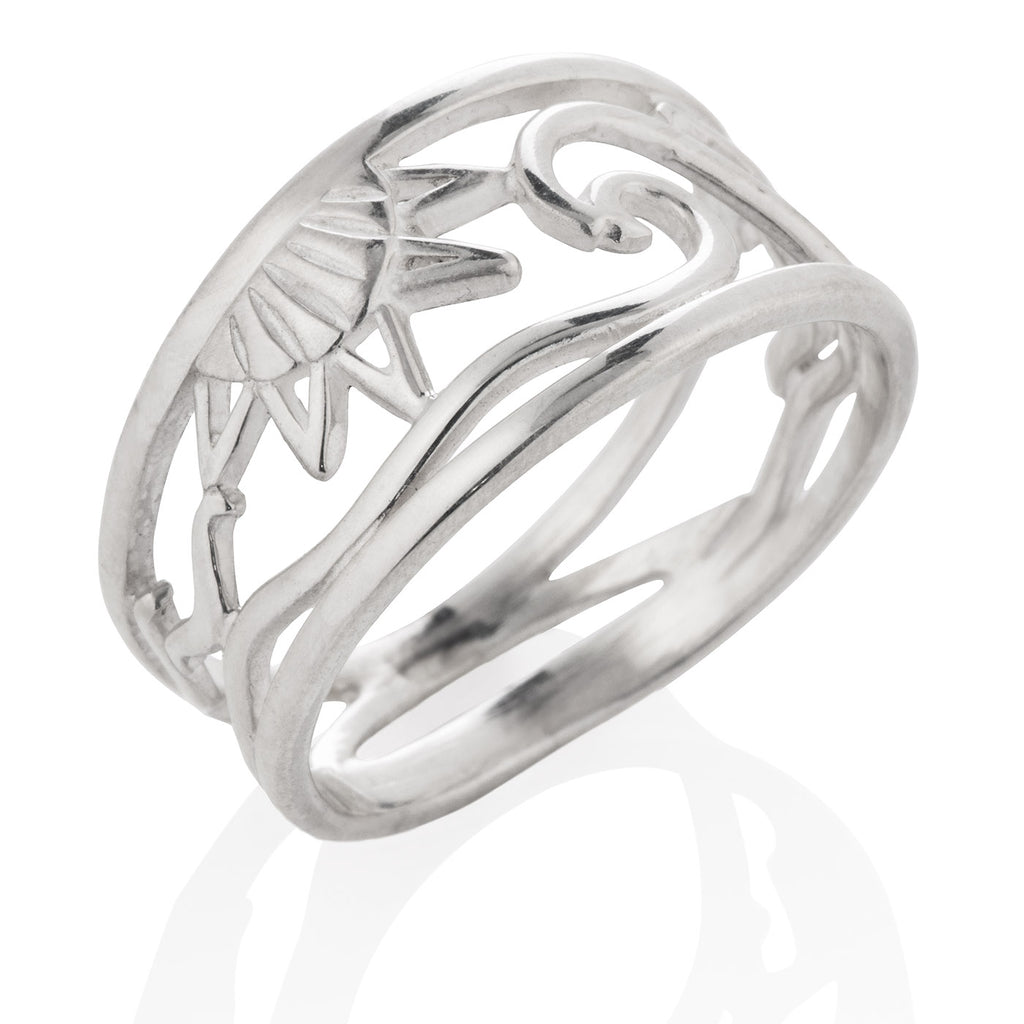 Open Ocean Ring (Wide) in Silver