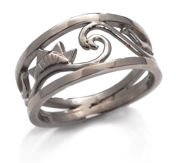 Open Ocean Ring (Narrow) in Silver
