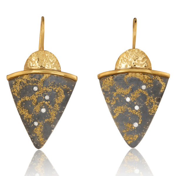 Starry Night Shield Earrings