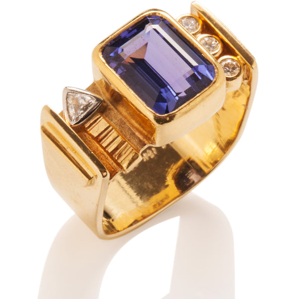 Tanzanite Bar Ring