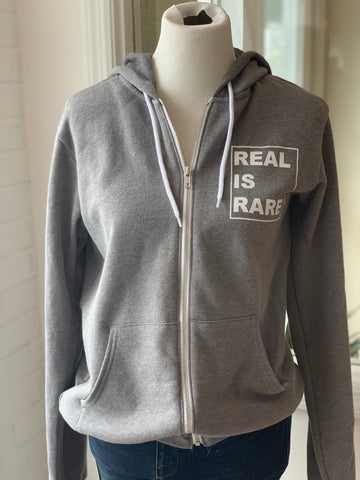 REAL is RARE Zip Hoodie