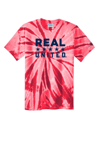 REAL United Red Tie-Dye Tee