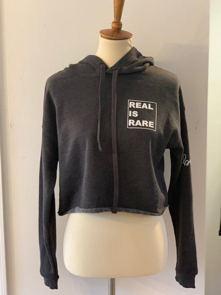 REAL IS RARE Cropped Sweatshirt