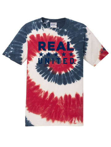 REAL United USA Tie-Dye Tee