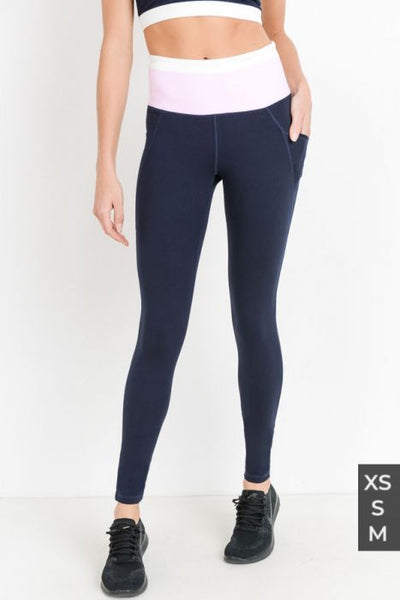 Kate Navy Colorblock Legging