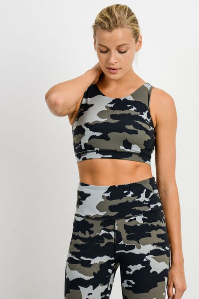 Preston Jungle Camo Sports Bra