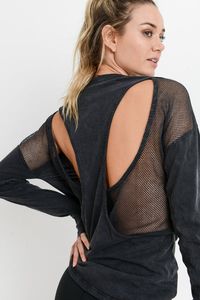 Ava Mesh Cut Out Top